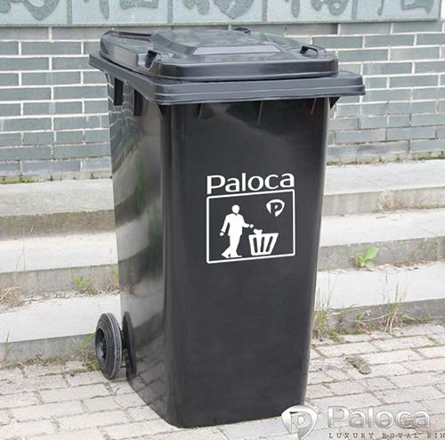 Màu đen dùng cho rác thải độc hại khác