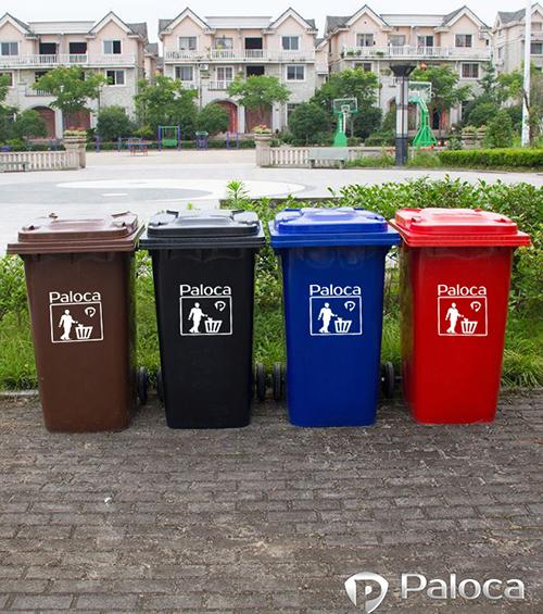 Thùng rác nhựa hdpe 240l chất lượng cao, giá rẻ