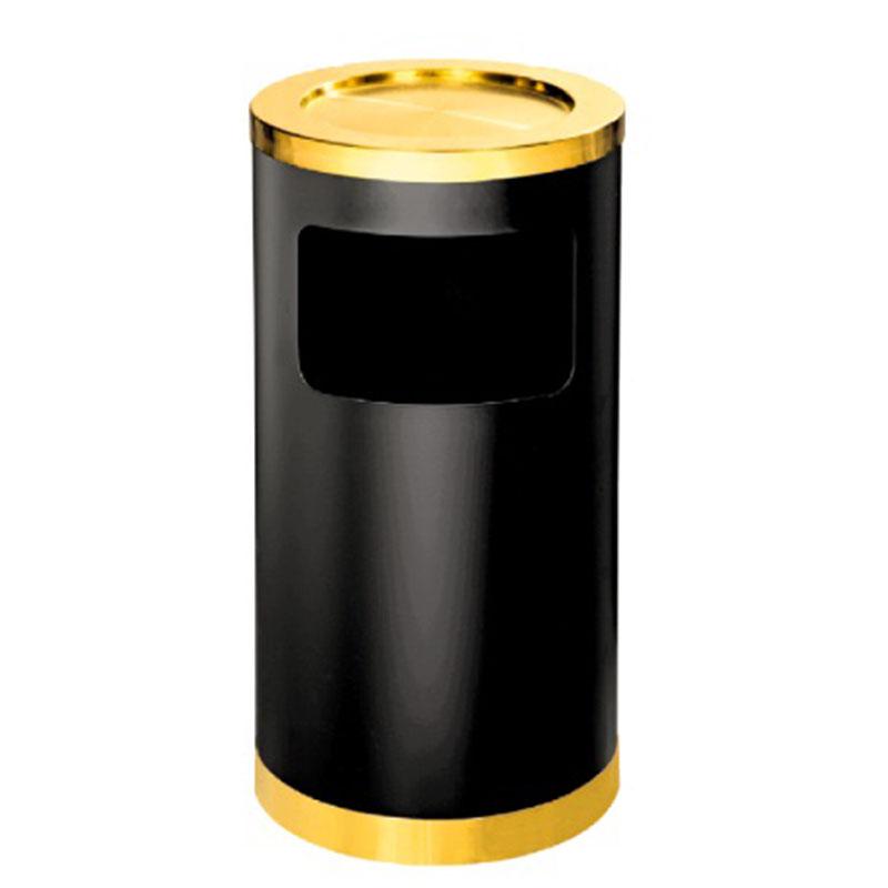 thùng rác thép phun sơn tròn có gạt tàn