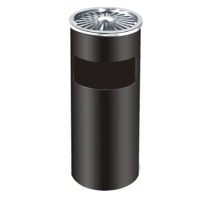Thùng rác tròn có gạt tàn bằng inox