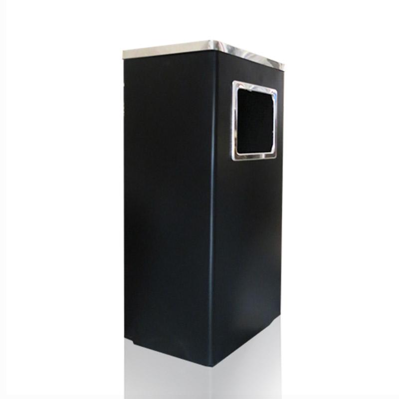 Thùng rác vuông có gạt tàn thuốc giá rẻ