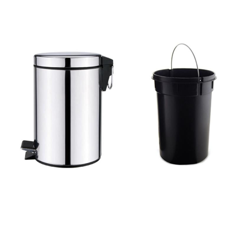 thùng rác inox đạp chân 5L giá rẻ