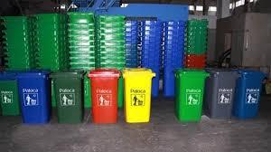 Thùng đựng rác nhựa HDPE có bánh xe
