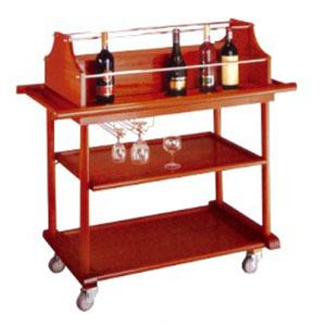 xe đẩy phục vụ rượu 3 tầng