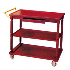xe đẩy phục vụ bàn bằng gỗ 3 tầng